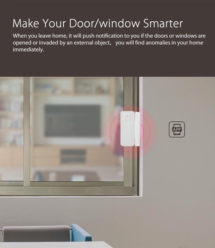 Wifi Door Sensor Window Sensors Alexa Google Home IFTTT Alarm Security Smart Life APP Wireless Remote Control(6)