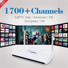 Smart TV Box ARM Cortex A7 Quad Core 1G/8G Android 4.4 H265 1 Year Iptv Free French TV 1700 Channels Europe Leadcool Set Top Box