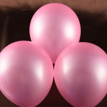 "Birthday Party Supplies 12 ""Pink Round Latex Balloons 12"" 50pcs Wedding Dress Up Patterns Photo Helium Balloon Free Shipping Gif"