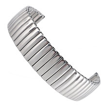 18mm Silver Stainless Steel Elasticity Watchband Fashion Bracelet Wristwatch Band Strap Replacement Mens Womens + 2 Spring Bars