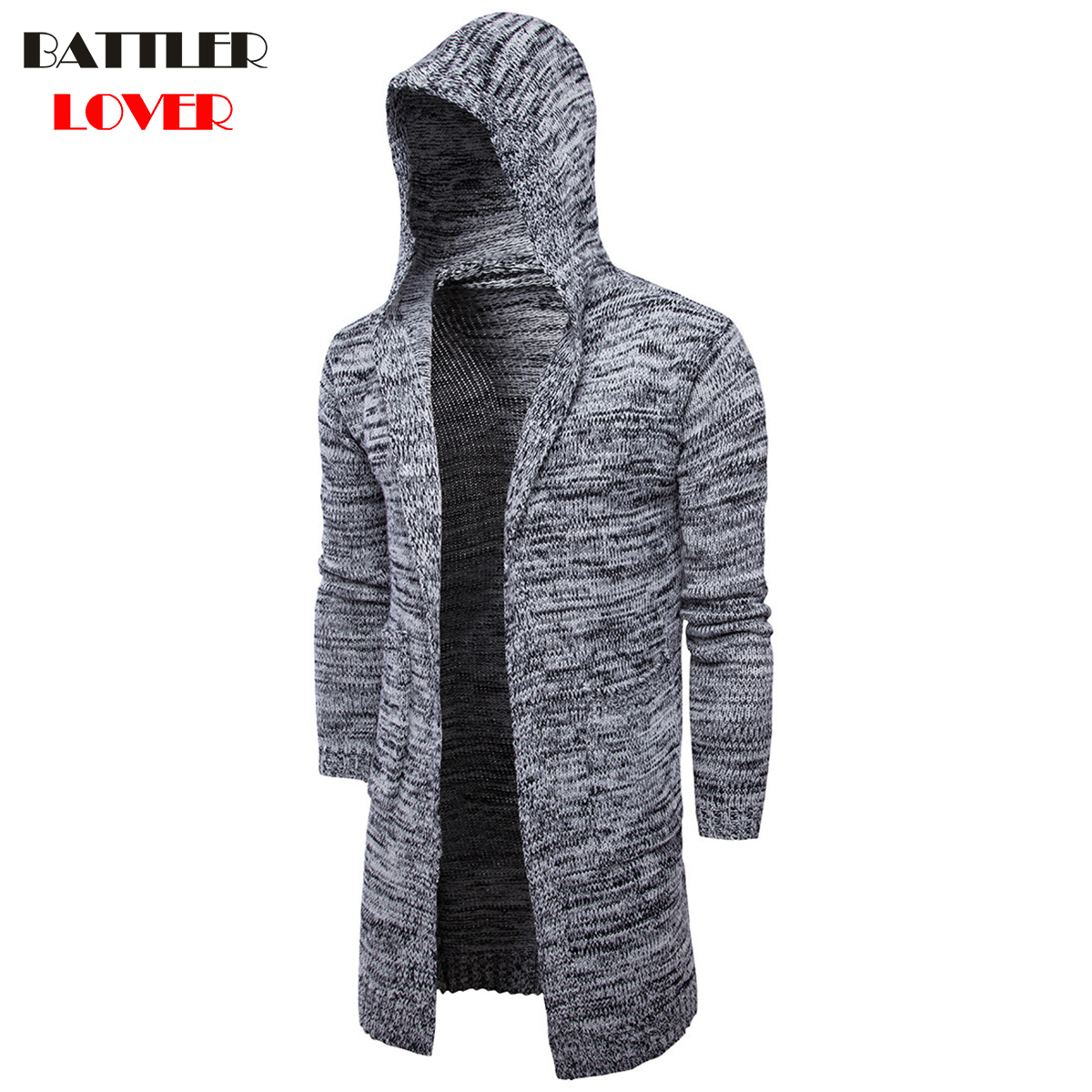2018 Fashion Men Winter Sweater Male Hooded Cardigan Long Sleeve Sweaters Mens Casual Korean Style Hooded Cardigans Jacket Coat