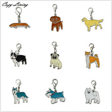 25mm Dog Tag Disc Disk Pet ID Enamel Accessories Collar Necklace Pendant 9 Colors Types Dog Collar Pendants Wholesale D17(China)