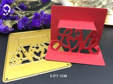 METAL CUTTING DIES 3D love heart flower  paper Scrapbook card album craft home decoration embossing stencil cutter