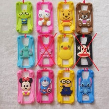 New Universal Silicone Frame bumper 3D Cartoon Minnie Kitty Mobile Phone Bumper For Iphone 4S 5S 6 6 plus Case For Samsung S5 S6(China)