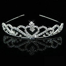 High Quality Wedding party pearl crystal wedding princess headband rhinestone pageant tiaras and crowns for brides Girls hair