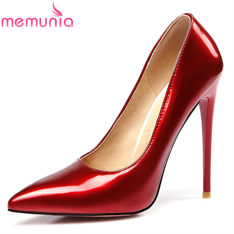 MEMUNIA 2017 new arrive women pumps fashion pointed toe super high spring autumn single shoes ladies office high heels shoes<br>