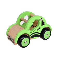 Brand Educational Wooden Mlv series i - Road Roller Little Rigs Car Collection(China)