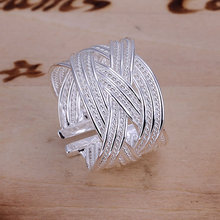 R024  silver plated rings for women wedding Bridal Jewelry  , Big Web Ring-Opened  wedding rings anelli donn