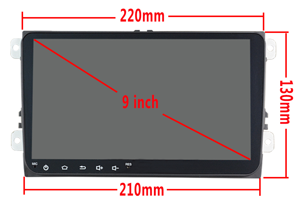 Android 9inch for B6 B7 Car DVD GPS For Volkswagen Golf GPS For VW Polo Car Stereo Radio GPS without DVD 67S-68S