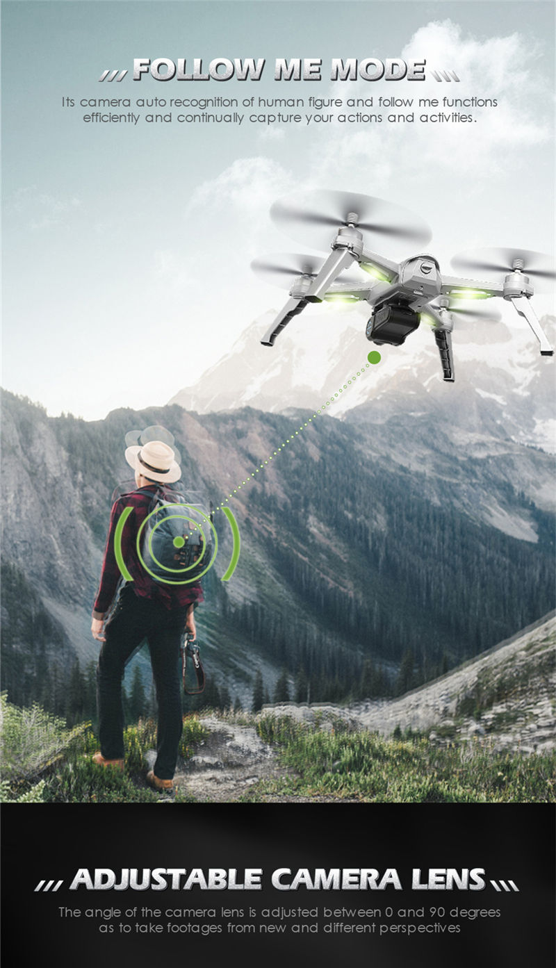Free Gifts! JJRC JJPRO X5 5G GPS WIFI FPV With 1080P HD Camera Max 18 Mins Follow Me Altitude Hold RC Drone Quadcopter RTF 5