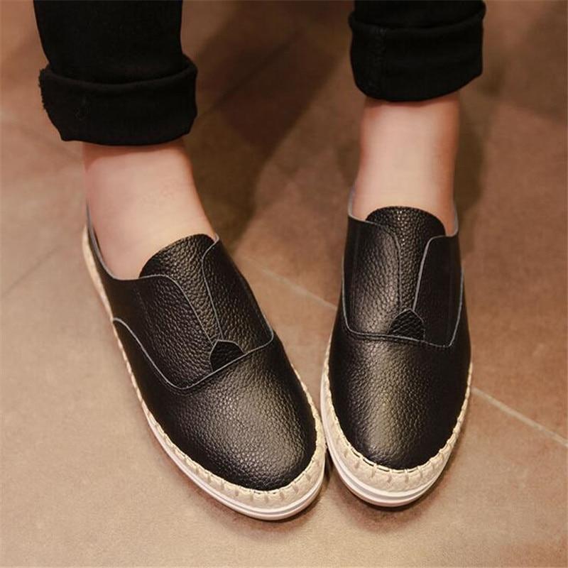 women genuine leather loafers shoes female platform fisherman shoes feminino flats plain boat shoes chaussure mocasines XK120605<br><br>Aliexpress