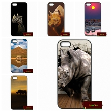 Black And White Rhino Cover case for iphone 4 4s 5 5s 5c 6 6s plus samsung galaxy S3 S4 mini S5 S6 Note 2 3 4 F0278(China)