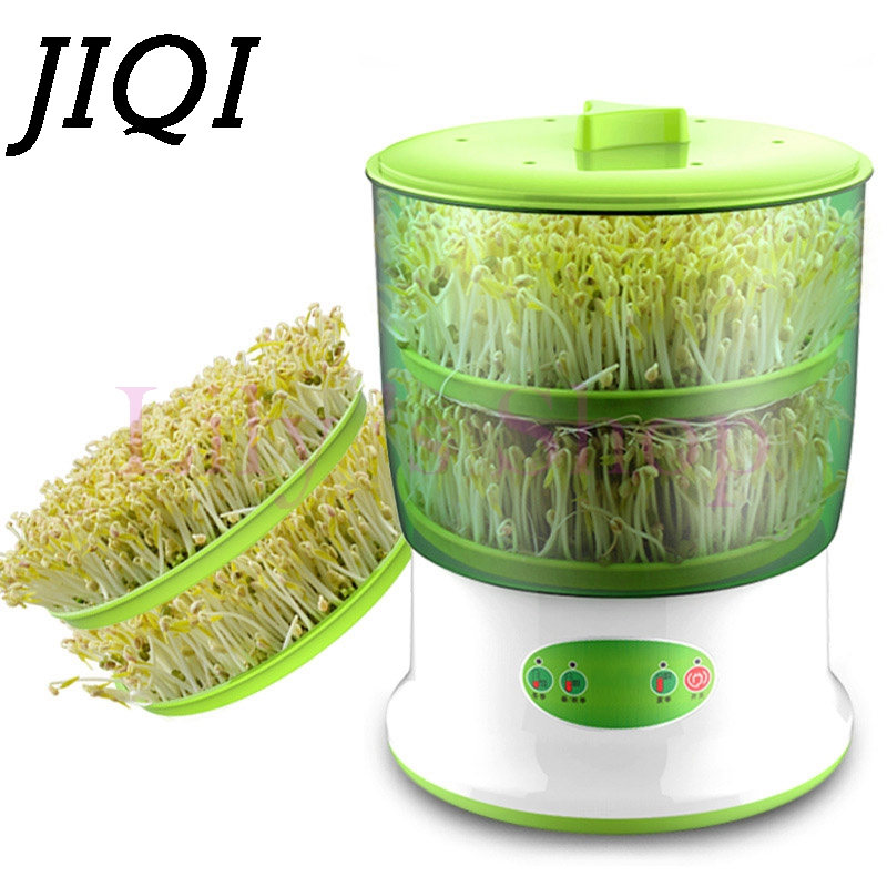 JIQI Home Use Intelligence Bean Sprouts Machine Large Capacity Thermostat Green Seeds Growing Automatic Bean Sprout Machine EU<br>