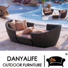 DYSF-D3201 Danyalife PE Rattan High End Outdoor Garden Sofa Bed