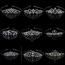 StoneFans Moon Bridal Wedding Pearl Rhinestone Crown Heart Crown Pageant Silver Plated Women Children Tiara Headband Accessories(China)