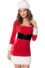 Hot Sale 2014 Sexy Women 2PC Mrs Santa Claus Dress Costume red 7219 fancy dress christmas costumes women s7219