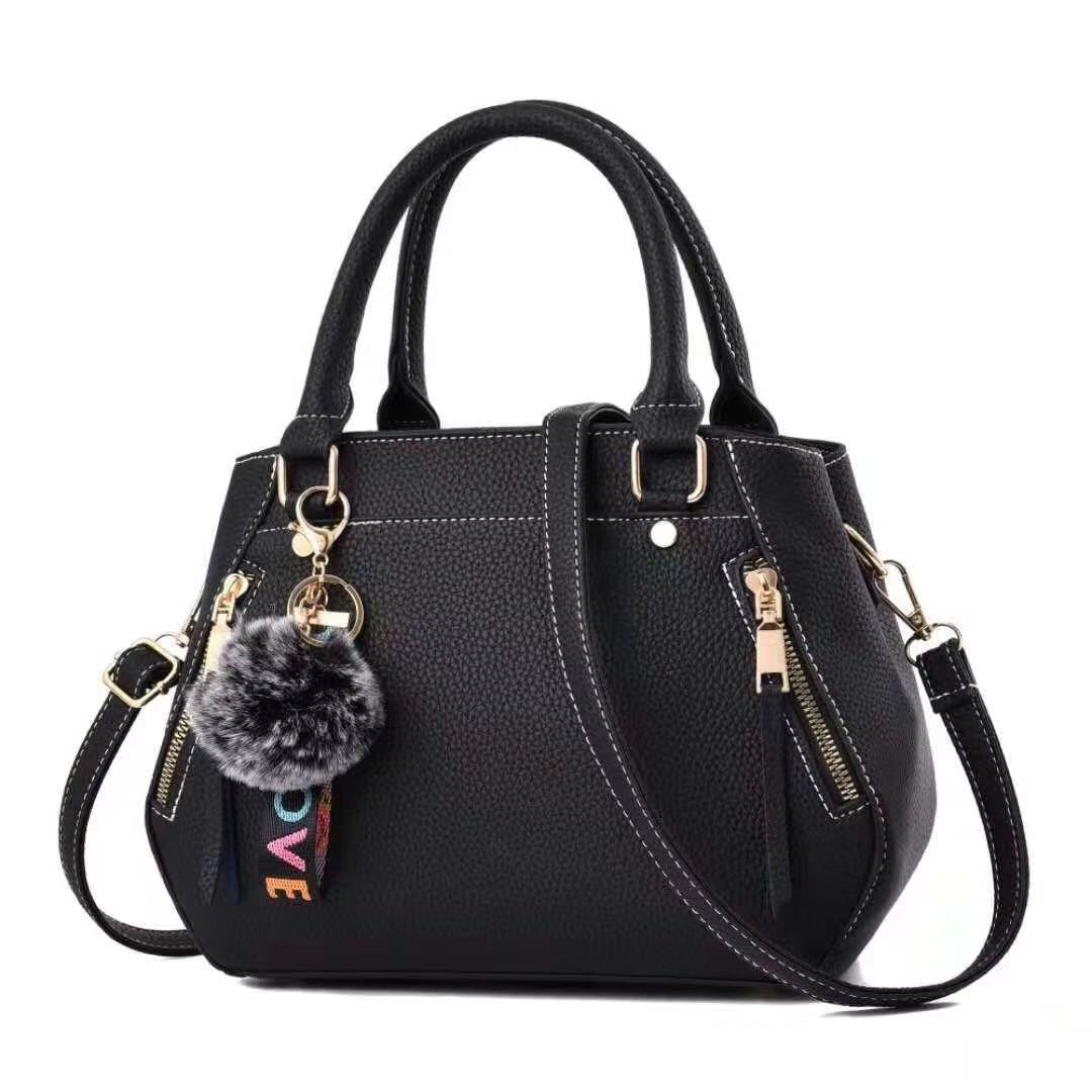 women hairball ornaments totes solid sequined handbag hotsale party purse ladies messenger crossbody shoulder bags 26