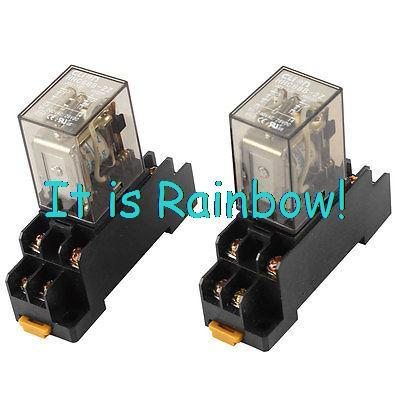 Free Shipping DC 12V Coil 3PDT 8 Terminals Motor Controller Electromagnetic Relay 2pcs<br><br>Aliexpress