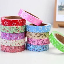 1pcs/lot New cute color flower style II Fabric Tape  Decoration stationery Tape kawaii foral diy tapes