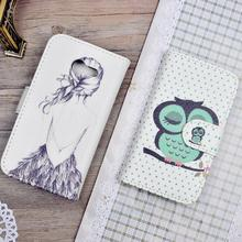 Cartoon Printed PU Leather Case Skin For Asus Zenfone 4 A400CG Flip Cover Wallet Stand Phone Bag with Card Holder