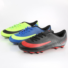 Professional Outdoor Soccer Shoes High Quality Men Sports Training Boot Shoes Hot Sale Waterproof Lace-Up PU Football Shoes