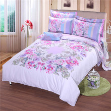 2017 Luxury Best Quality 100%Cotton 1000TC Europe Style White Brief 3D Quilt Cover 3D Bedding Sets Cotton(China)