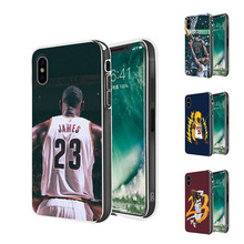Buy DIFFRBEAUTY Famous NBA Coque Basketball Players Lebron James Phone Soft TPU Phone Cases iPhone X 5 SE 6s 7 Plus Capa Shell for $1.48 in AliExpress store