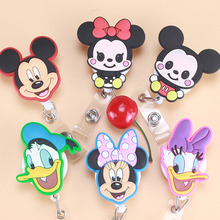Foreign trade Mini Cartoon Animals Retractable Badge Reel Student Nurse Exihibiton ID Name Card Badge Holder Office Supplies