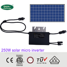 250W MPPT solar micro on grid tie inverter DC MC4 20V 60V AC RST 25i3 230V 185V-265V CE VDE SAA TUV ETL IP67 10years