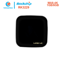 WESOPRO MA8-4K Android TV Box Rockchip RK3229 1GB 8GB Quad Core WIFI HDMI HEVC 4K*2K HD Smart Set-Top BOX 3D Media Player IPTV