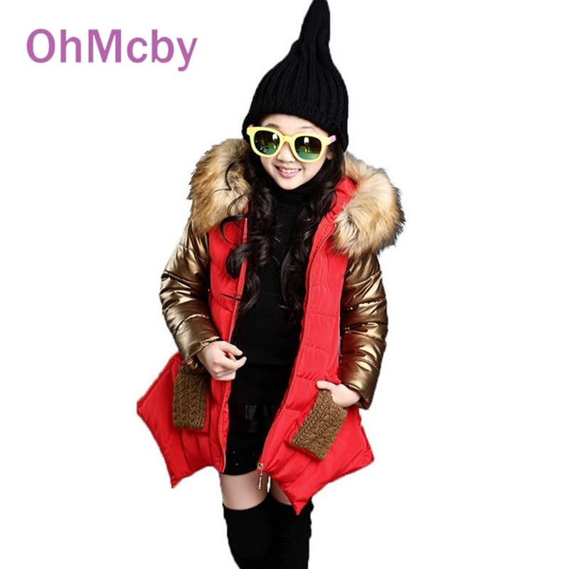Fashion Winter Thickness Warmer Down Jacket For Girls Parka Kids Winter Long Jacket Manteau Fille Hiver Hooded Girls Winter CoatОдежда и ак�е��уары<br><br><br>Aliexpress
