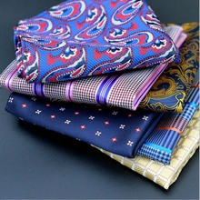 Hot sale 25cm*25cm Men Handkerchief Pocket Square Handkerchiefs polyester high quality hankerchief wedding gift for men F0123