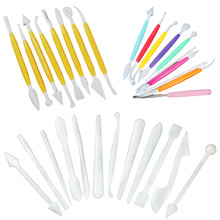 Special 8/10/12 pcs/set Fondant Cake Decorating Flower Sugarcraft Modelling Tools kit(China)