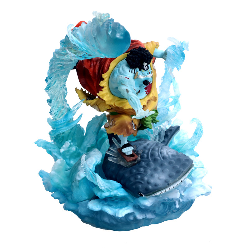 NEW hot 21cm One Piece War damage Jinbe Action figure toys doll Christmas gift no box (2)