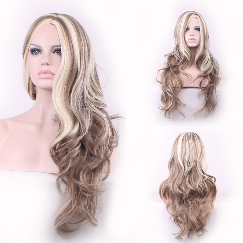 fashion harajuku gradient wig lolita long curly blonde wig women wigs natural hair heat resistant synthetic wigs ombre cosplay <br><br>Aliexpress