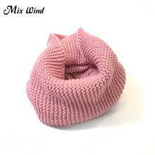 Mix Wind Ladies Girls All-Match Winter Warm Knitting Wool Collar Neck Warmer Scarf Shawl Wraps Collar Women And Men Scarves(China)