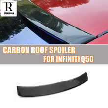Q50 Carbon Fiber Rear Roof Window Spoiler for Infiniti Q50 2014 2015 2016 Auto Racing Car Tail Lip Wing Spoiler