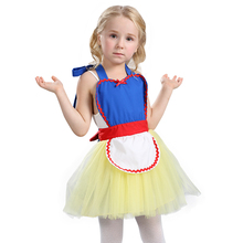 Comfortable Child Cute Snow White Princess Tutu Apron Costume Great For Bakery Or Themed Party Play Dress-Up Easy To Take Off(China)