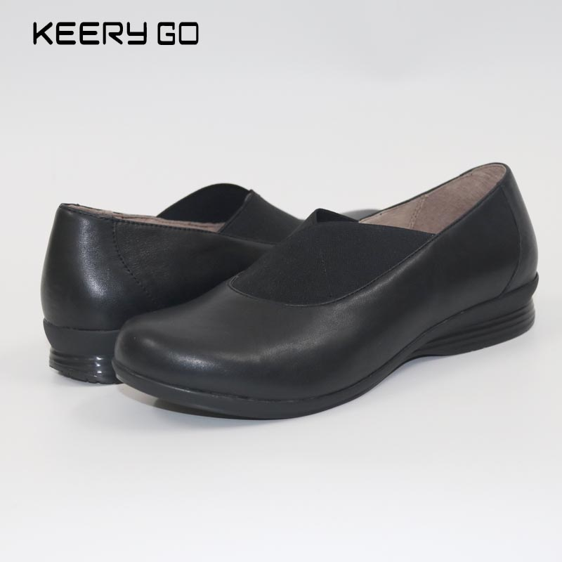 First layer of cowhide wedges womens shoes super comfortable single shoes health shoes leather 35 - 43 <br>