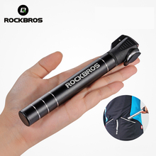 ROCKBROS Mini Portable Bicycle Pump 100 Psi Aluminum Alloy Cycling Bike Pump Fit Presta & Schrader Valve MTB Mountain Bike Pump(China)