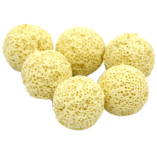 10pcs Yellow Ceramic Ball Bio Porous Filter Media Net Bag Biological aquarium Filter Nitrifying Bacteria Material(China)