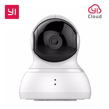 YI Dome Camera 720p Pan/Tilt/Zoom Wireless IP Security Surveillance System HD Night Vision (US / EU Edition) White Baby Monitor(China)