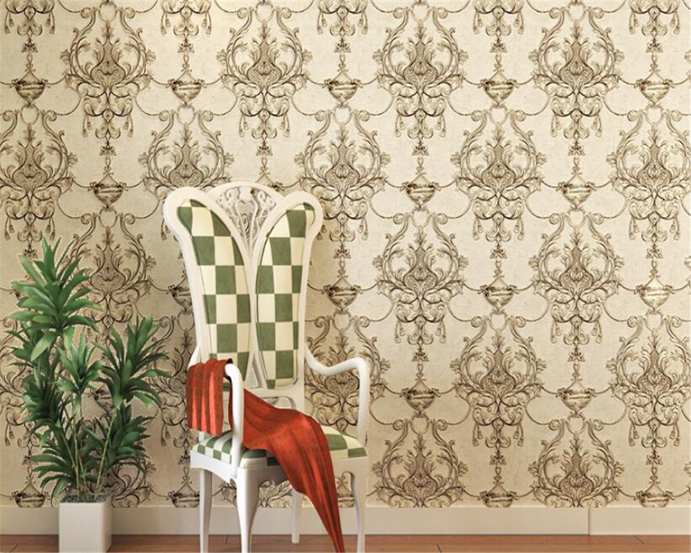 Beibehang  retro Embossed non-woven 3D wallpaper ultra-stereo European personality living room bedroom TV background wall paper<br>