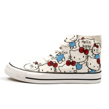 girls hello kitty shoes kids casual canvas sneakers girl parent-child shoes