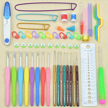 new  16 pieces Super thick plastic crochet hook 0.65MM-6.0MM Knitting needles pins candy Colorful Plastic kit Weaving needle zl3