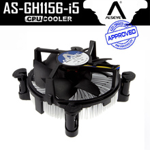 ALSEYE CPU Radiator, Aluminum Heatsink and 90mm CPU Fan Cooler for i3/i5, LGA 1156/1155/1151/1150 with Thermal Grease(China)