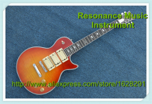 Custom Shop Tobbaco Burst Finish Ace Frehley Signature LP Electric Guitar Left Handed Available(China)