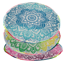 Quick-Dry Round Beach Towels Soft Floral Print Blanket Yoga Mat Tippet Swimming Bath Towel Bathroom Products
