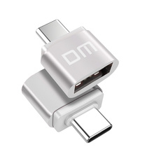DM Type C Silver Type-C Adapter USB Converter Adapter Type USB Data Support equipment with Type-C interface(China)