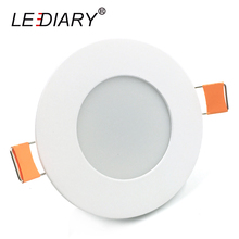 LEDIARY 220V Round Recessed Led Downlight 68-80MM Cut Hole Size LED Spot Lamp 3W/5W For Ceiling/Living Room SMD Full Watt